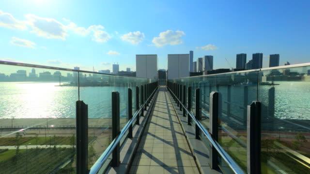 Walking on elevated walkway