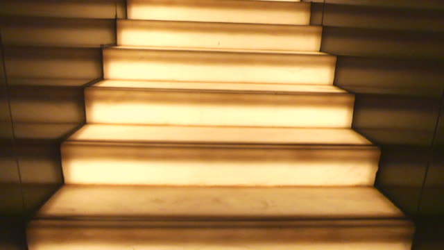walking on light staircase video