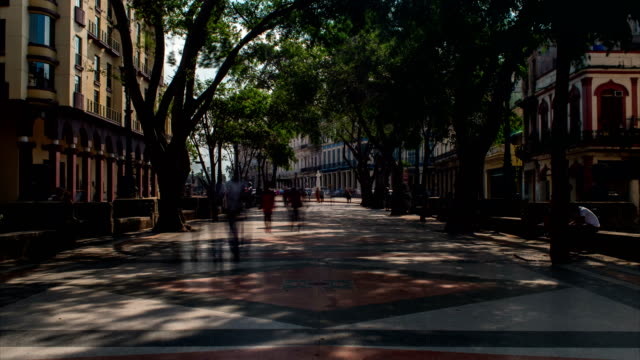 Walking on Paseo del Prado Motion Time Lapse, Havana, Cuba video