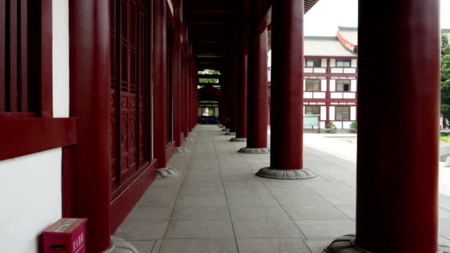 Walking on the Corridor of Ancient Architecture