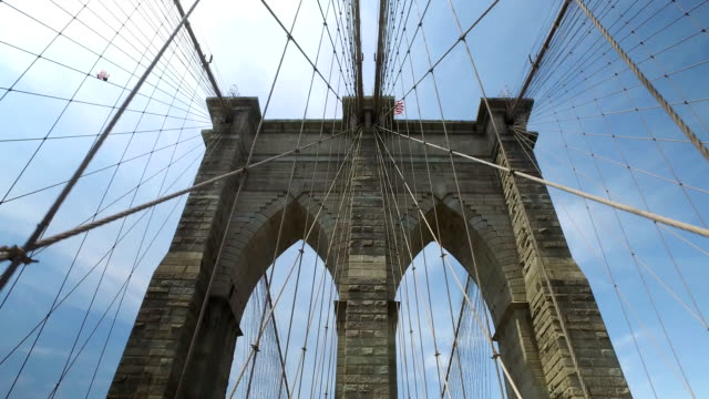 POV Walking Over Brooklyn Bridge video