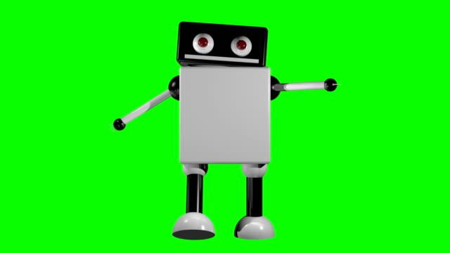 Robot de marche sur fond isolé. Rendu 3D - Vidéo