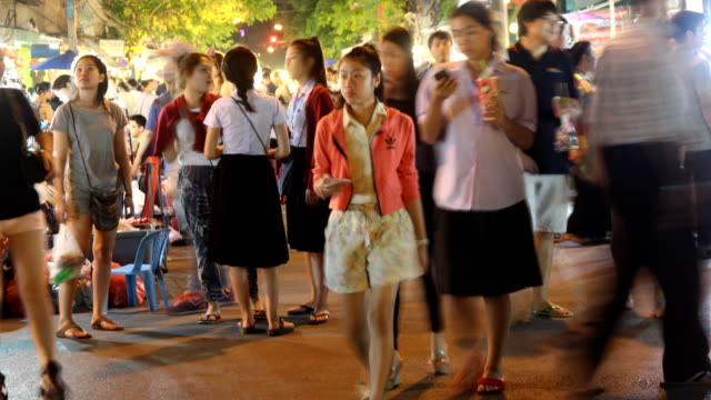 Walking street, Chiang Mai, Thailand, Tmelapse video