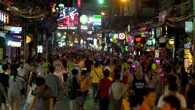 Walking Street, Phuket, Thailand video