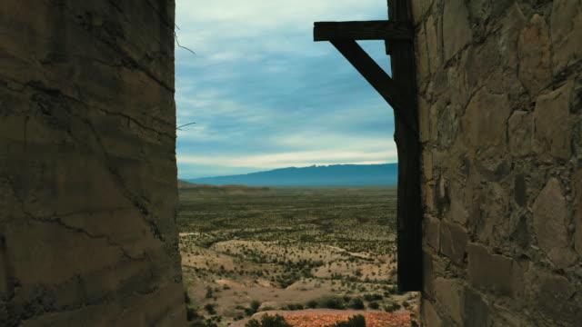 Walking through abandon quicksilver mine overlooking Big Bend