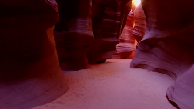 CLOSE UP: Walking through the corridors of Antelope canyon video