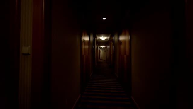 Walking through the hotel corridor video