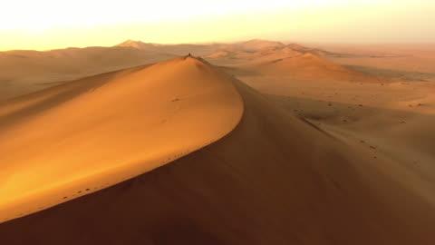 passeggiando nel deserto della namibia - deserto video stock e b–roll