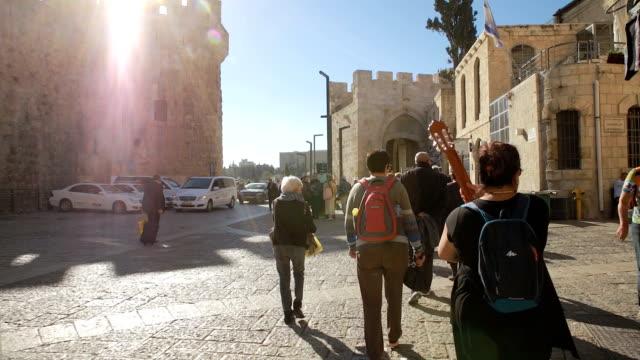 Walking to Jaffa Gate video