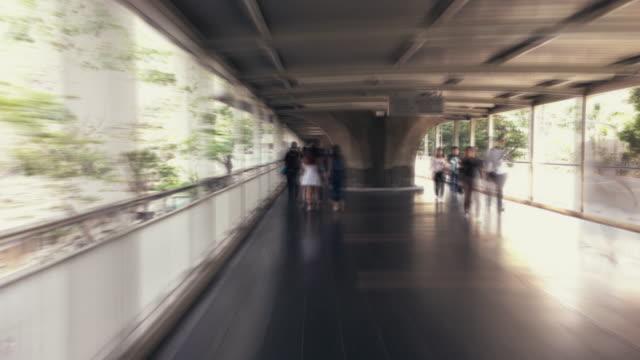バンコク タイムラプスの道を歩く - ファストモーション点の映像素材/bロール