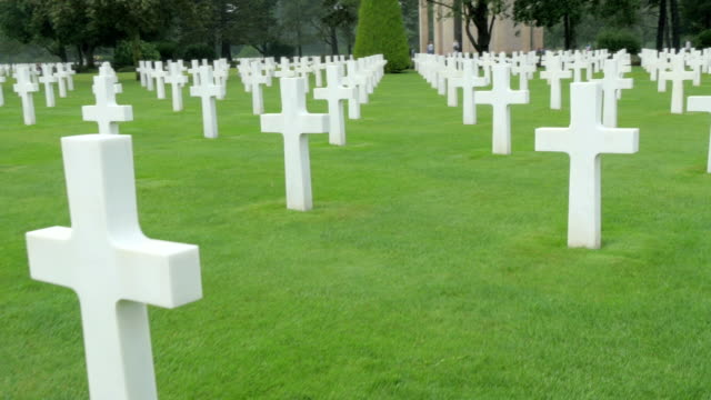 A walkthrough the Normandy Cemetery in France video