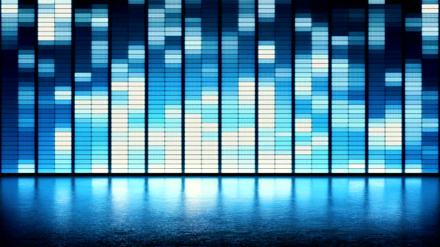 LED wall blue pattern background video