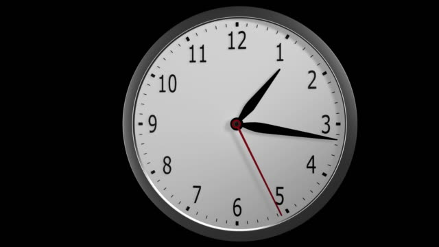 Wall clock 12 hr timelapse video