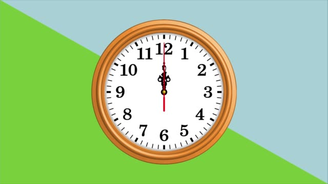 Wall clock animation. Time lapse Round wall clock. Video is repeatable wall clock stock videos & royalty-free footage
