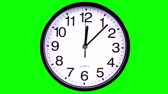 Wall clock on a green background TimeLapse