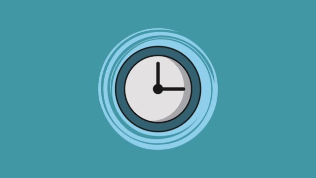 Wall Clock running HD Wall Clock running over blue background High definition animation colorful scenes office illustrations videos stock videos & royalty-free footage