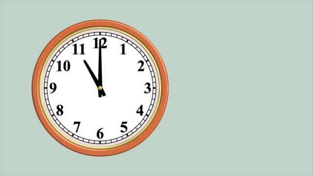 Wall clock time lapse on light blue background Round wall clock. Video is repeatable wall clock stock videos & royalty-free footage