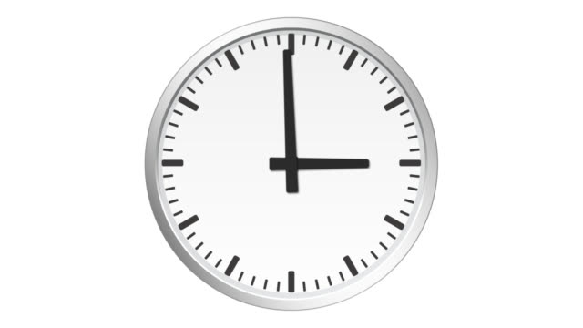 Wall clock timelapse animation, loopable stock video
