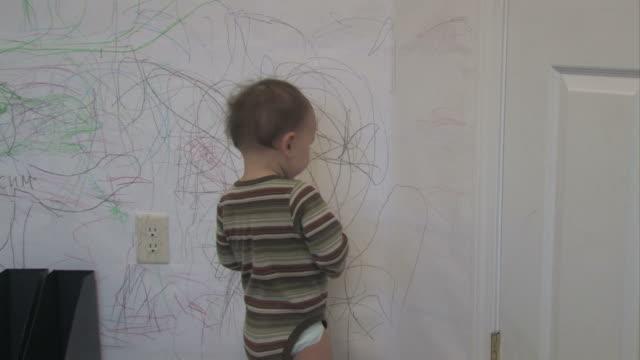 stockvideo's en b-roll-footage met wall drawing 01 - multi-format progressive - wall