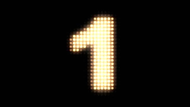 wall light countdown - conto alla rovescia video stock e b–roll