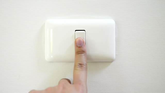 HD Wall Light Switch Wall Light Switch lamp shade stock videos & royalty-free footage