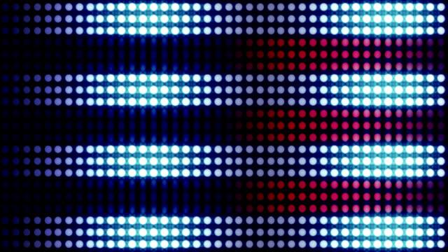 Wand von bunten Glühbirnen – Video