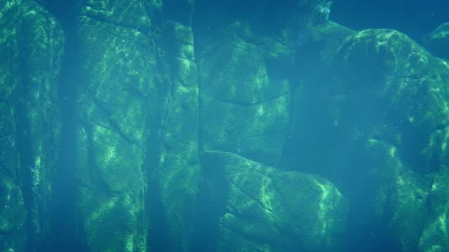 wall of rock in the ocean - masso video stock e b–roll