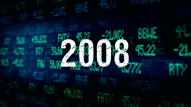 vídeos y material grabado en eventos de stock de financieros de wall street tipografía ominoso - 2008 - recesión