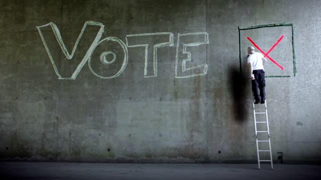 vidéos et rushes de wall street vote - vote