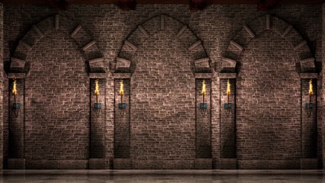 Wall with arches 4K