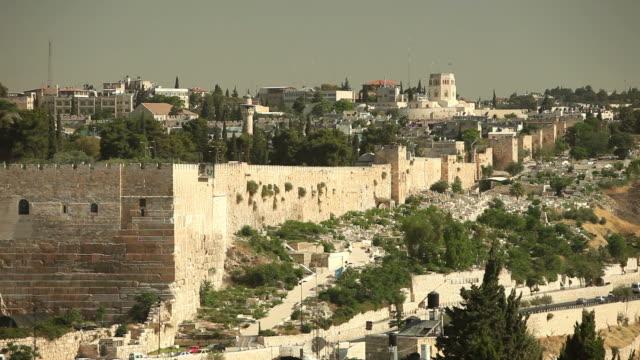 vídeos y material grabado en eventos de stock de walls of jerusalem - organismo vivo