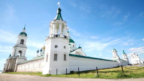 Walls of the Spaso-Yakovlevsky Monastery / Russia. Rostov video