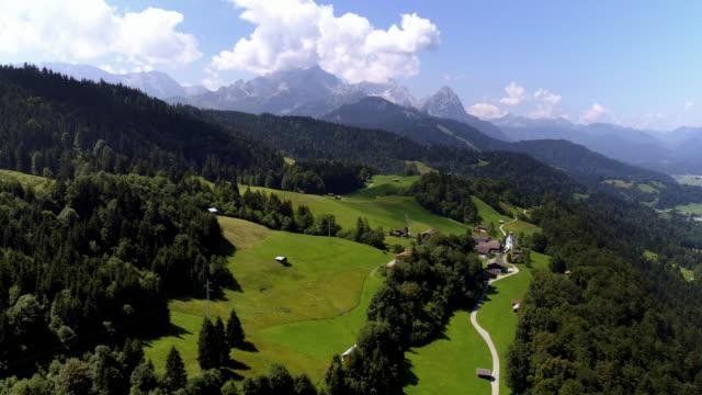 Wamberg Village and Garmisch-Partenkirchen in the Wetterstein Mountains – Video