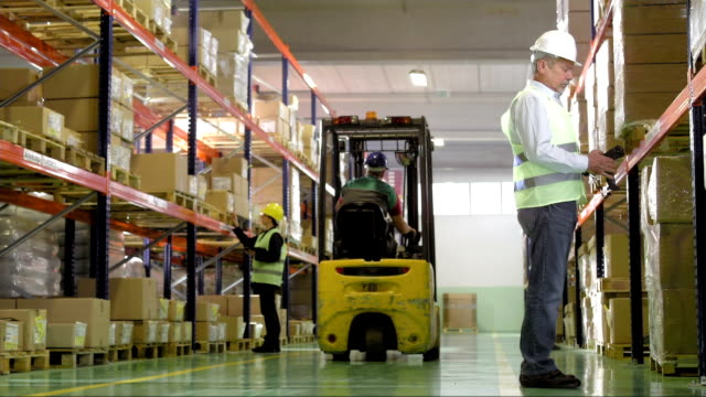 Warehouse Employees Working video