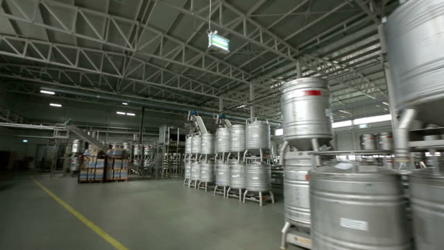Warehouse With Metal Barrels video