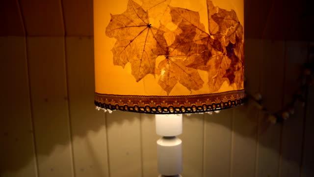 warm light of yellow lamp autumn mood video