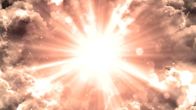 warm lights from heaven - paradiso video stock e b–roll