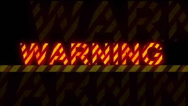 stockvideo's en b-roll-footage met 'warning' glowing text (loopable) - verboden