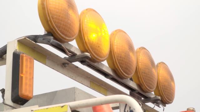 Warning lights special equipment. Yellow lights