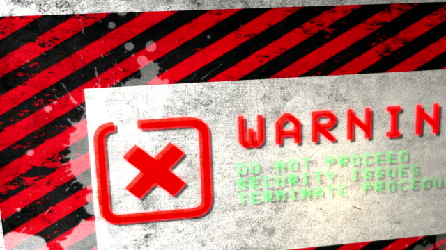 Warning Sign. HD video
