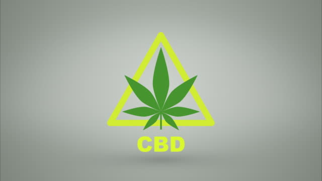 CBD warning symbol with luma matte CBD Warning animated pop up. Use luma matte to matte logo to use on custom background. cannabidiol stock videos & royalty-free footage