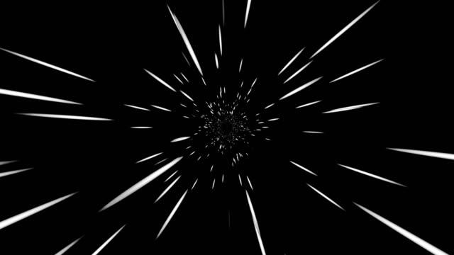 vidéos et rushes de tunnel de warp, hyperspeed voyage, mouvement abstrait fond - ciel etoile