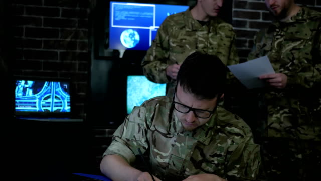 warrior man portrait, cyber safety, technical control, tracking video