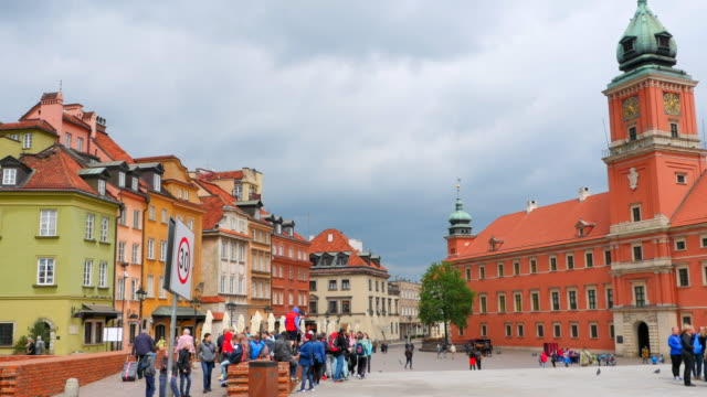 Warsaw Poland, Old Town City Square, National Historic Center video