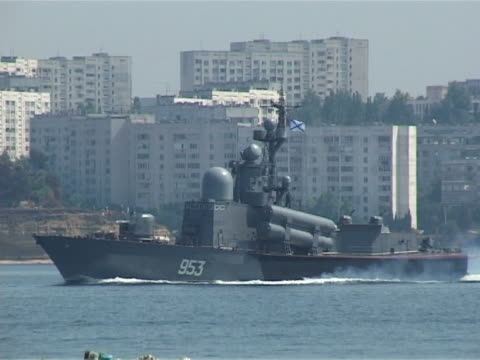 warship on maneuvers video