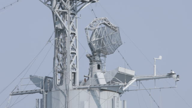 Warship Radar Captured By Canon 5D Mark IV durability stock videos & royalty-free footage