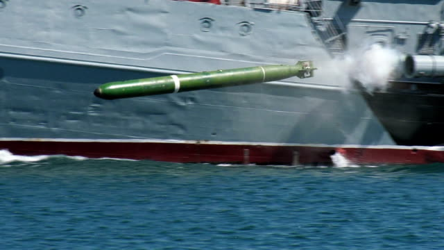 warship torpedo attack video