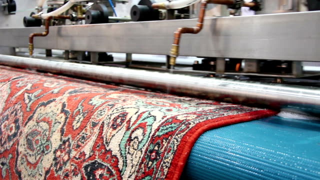 washing and cleaning of carpets - tappeto video stock e b–roll