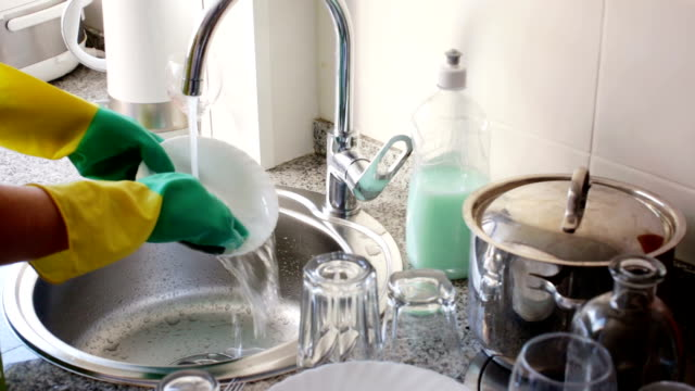 washing dishes in the kitchen video