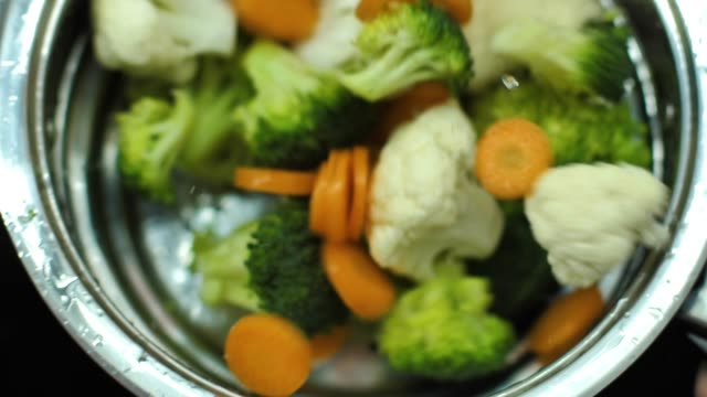 Washing fresh vegetables video